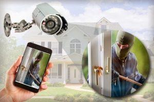 camera and burglar